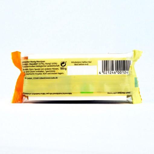 Marzipan mit hohem Mandelanteil nur aus Honig und Mandeln 100g.