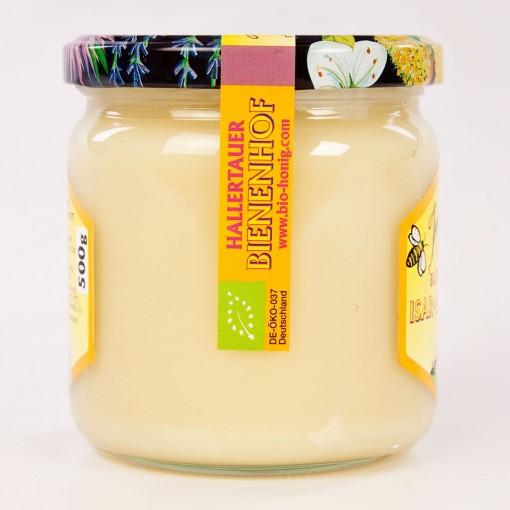 Kaltgeschleuderter Honig Blüte vom Imker 500g.