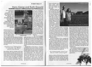 Zwei Seiten von der Tagwerk Zeitung aus Dorfen über die TAGWERK-Imkerei.