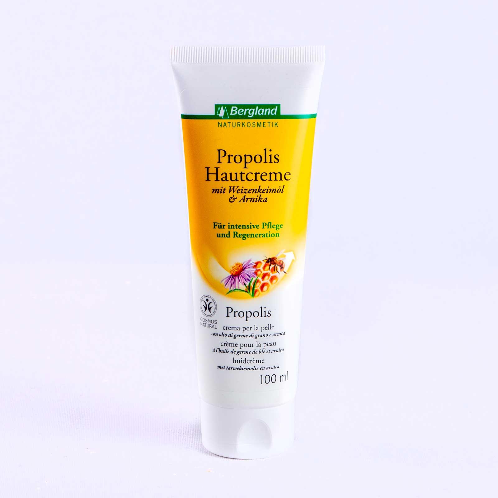Propolis Creme Pflege Creme Hautcreme Natur in 100ml Tube von Bienenkosmetik Versand Shop von Imkerei Oswald www bio honig com.