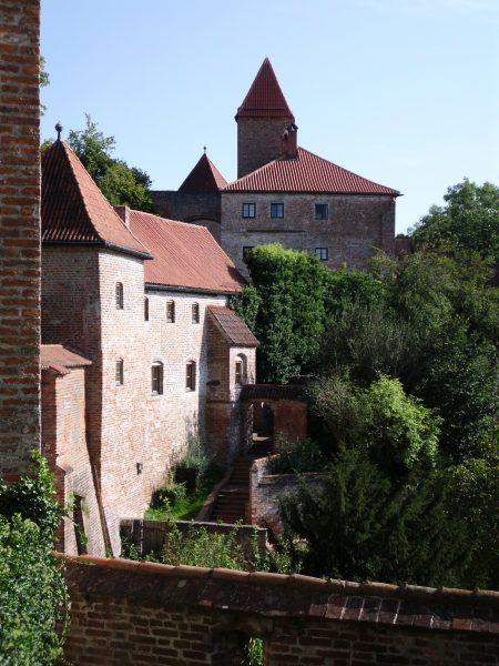 Der älteste, gotische und romanische Teil der Burg Trausnitz.