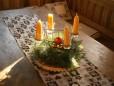 Handgefertigte Kerzen.