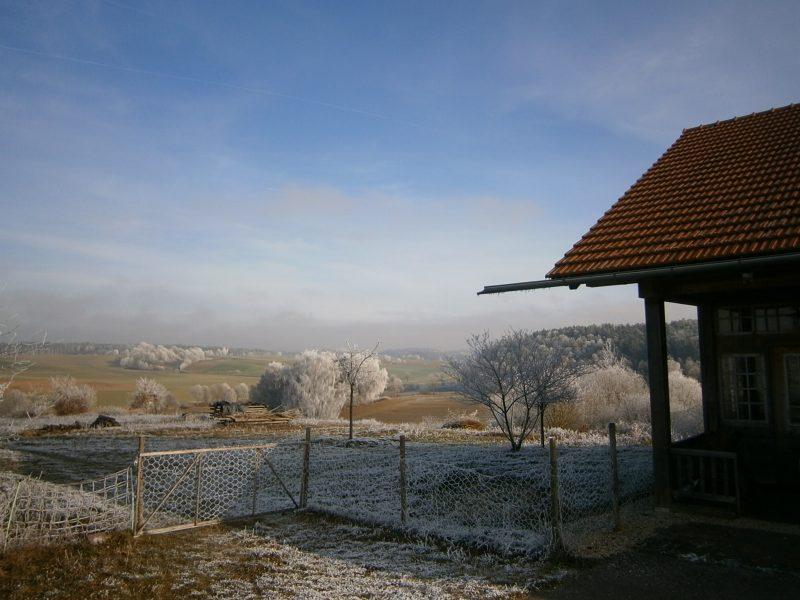 Echtes Bienenwachs: Winter in Deutschland. Anfang 2016