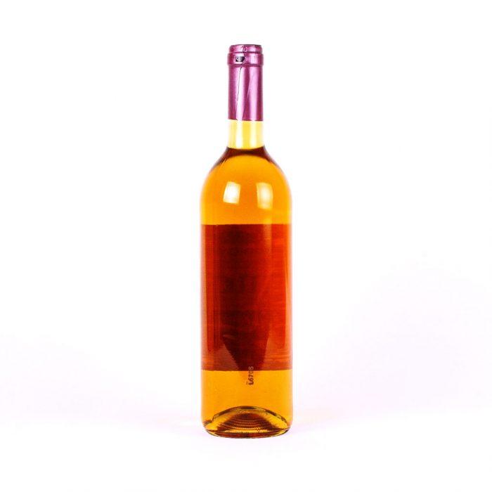 Eine Flasche süßen Honigweins.