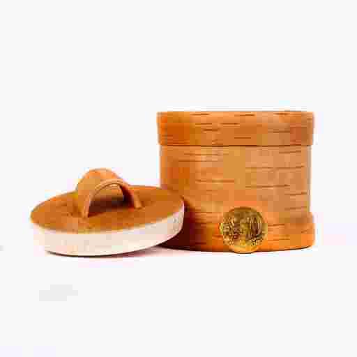 Holzdose Bio aus Baumrinde.