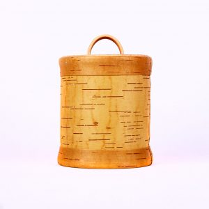 Bio Behälter aus Baumrinde.