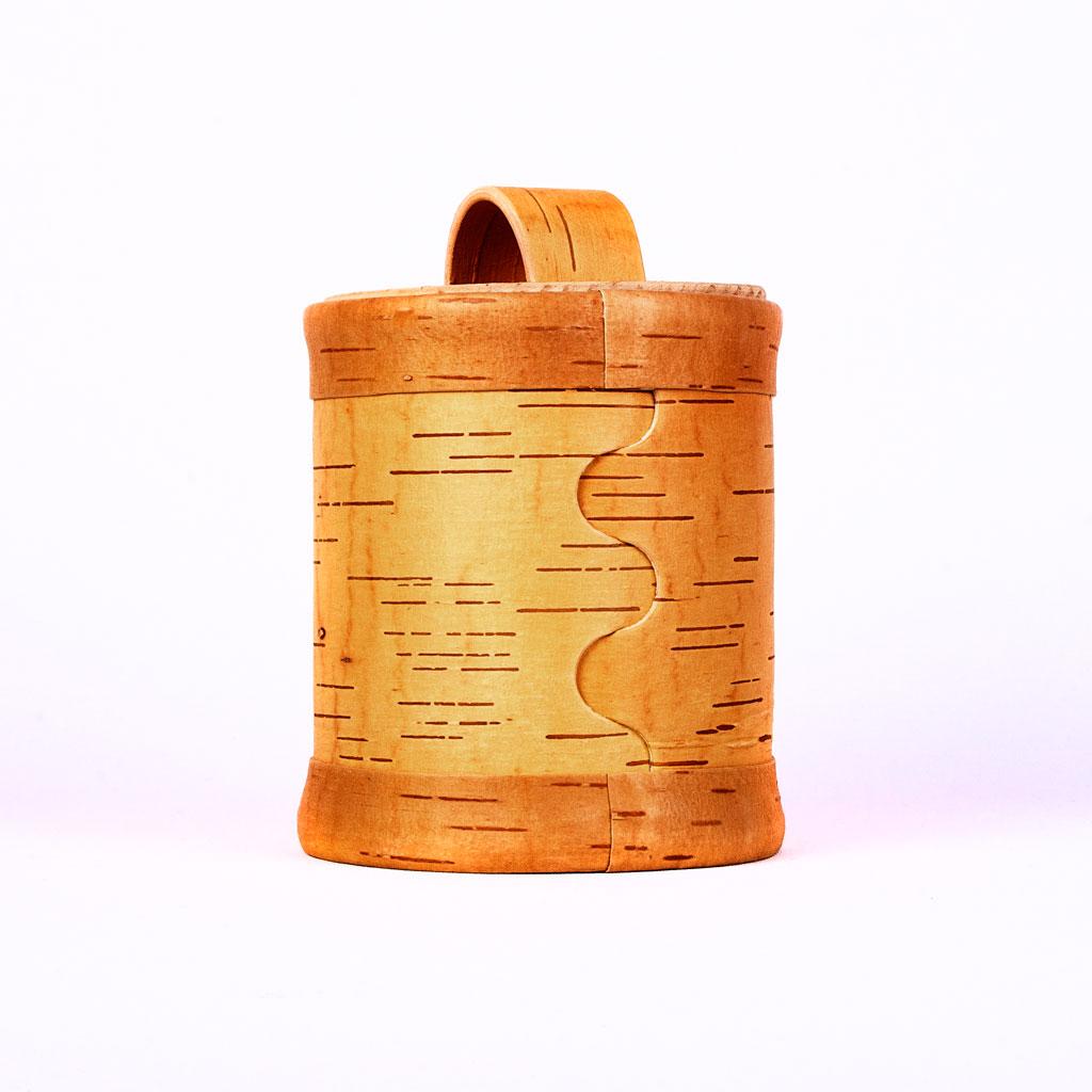 Ein Lagerbehälter für Getreide, Salz und Gewürze.