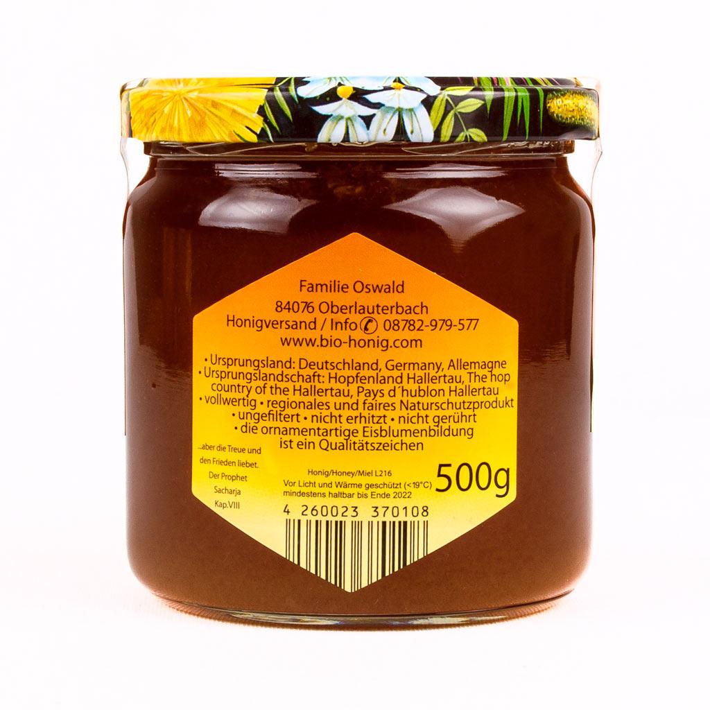 Ein Glas Honig vom Imker.