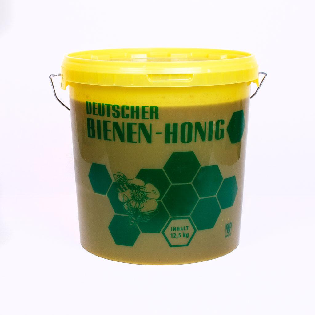 Backhonig vom Imker bio, ein Eimer Honig;