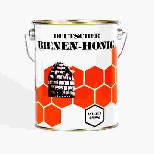 Ein Eimerchen Honig zum Backen und zur Verarbeitung. Biokreis und Tagwerk Produkt.