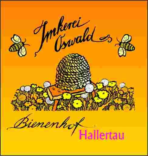 Impressum: Buntes Logo einer Berufsimkerei (Imkerei Oswald) gezeichnet von Bernhard Kühlewein, entstanden im Jahr 2000. Das Copyright liegt bei bio-honig.com H.G.u.R.Oswald GbR