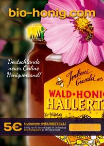Gutschein Imkerei Oswald bio-honig.com Honig kaufen
