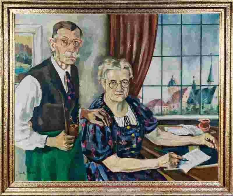 Glaser- und Zinngießermeister Franz Xaver und Veronika wanderten 1903 von Simbach am Inn nach Altötting aus und gründeten dort eine Glas- und Porzellanwarenladengeschäft mit Devotionalien für Wallfahrer sowie angeschlossener Glaserei, Zinngießerei, Spiegelverkauf und Einrahmungen