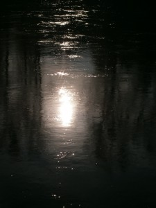 Wasseroberfläche der Donau