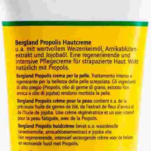 Produktdetailbild der Propolis Hautcreme vom Naturwaren Shop und Bienenkosmetik Versand von Imkerei Oswald.
