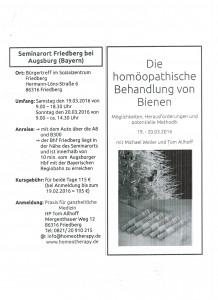 Bienen Seminar Tom Allhoff