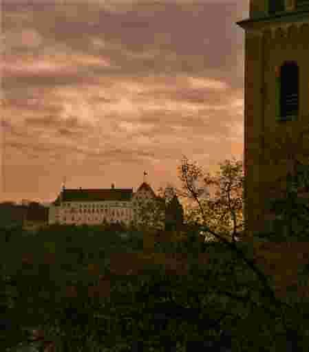 Die Burg Trausnitz zu Landshut in Niederbayern.