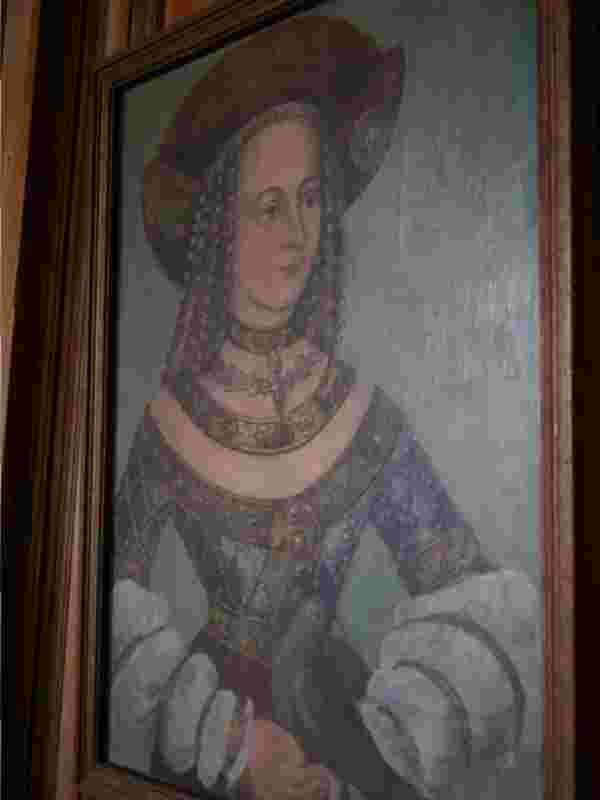 Bildnis der Herzogin Jadwiga mit Taube, Polnische Königstochter und Gemahlin Georgs des Reichen (Landshuter Hochzeit 1475).
