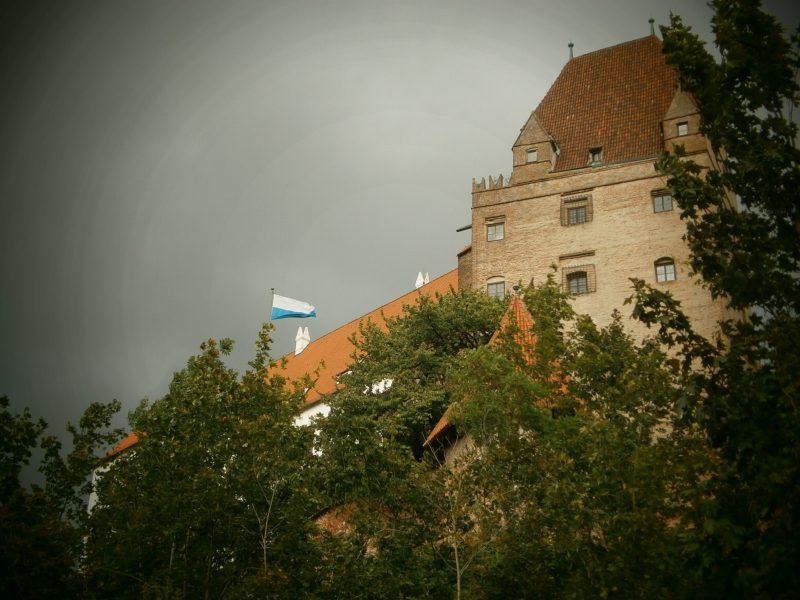 Wittelsbacher Turm auf der Burg Trausnitz.
