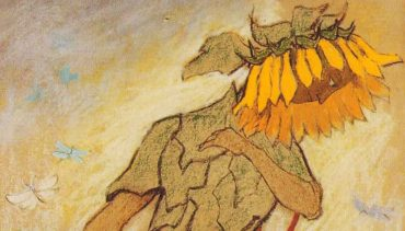 Bild von Ernst Kreidolf, Sonnenblume darstellend.