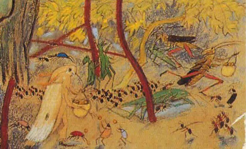 Illustration mit Waldameisen.
