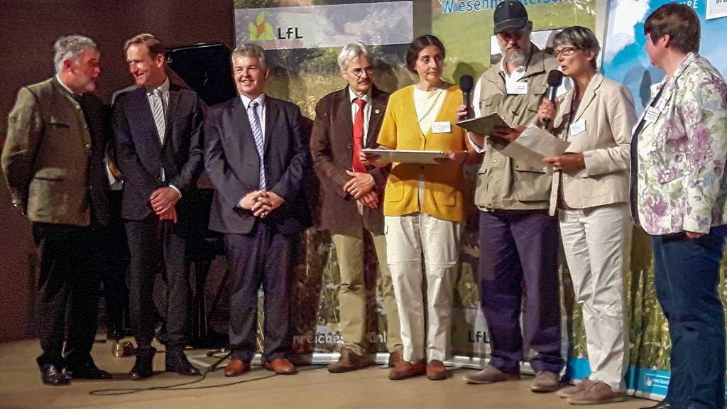 """Preisverleihung der Wiesenmeisterschaft """"Donau-Isar-Hügelland"""" 2018 im Salzstadel in Landshut."""