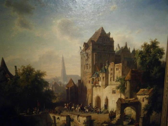 Die Trausnitz zu Lanshut, eine alte Deutsche Burg wie aus dem Bilderbuch.