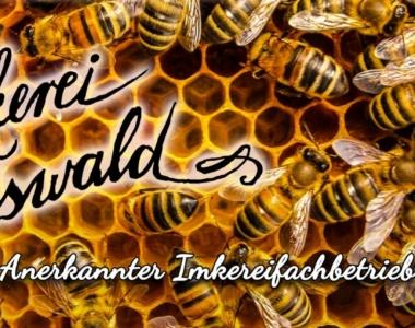 Imkerei Firmenschild bzw. Banner auf der Webseite des Onlineshops unserer Bio-Imkerei.
