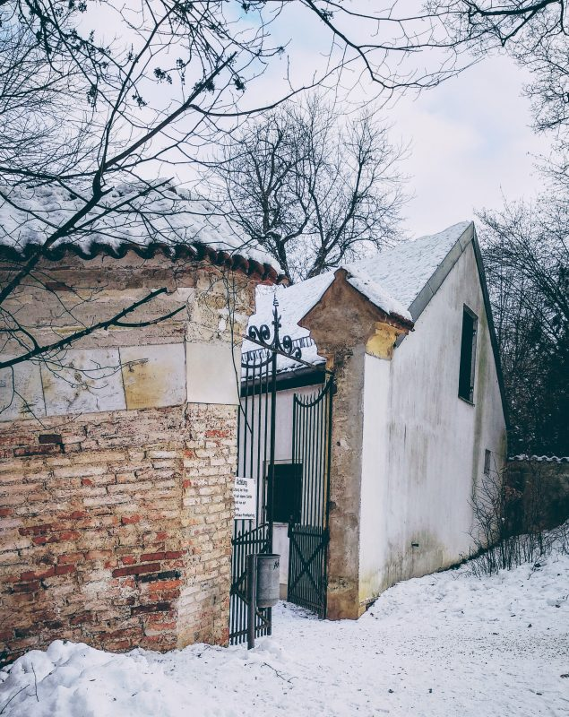 Das Eingangstor zum Landshuter Herzogsgarten.