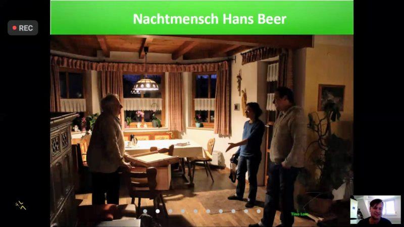 Ein Foto vom Besuch im Hause Hans Beers.